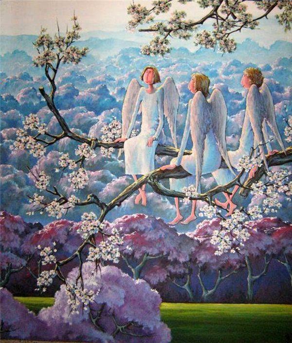 Те, кто всегда рядом... Ангелы в живописи современников, фото № 22