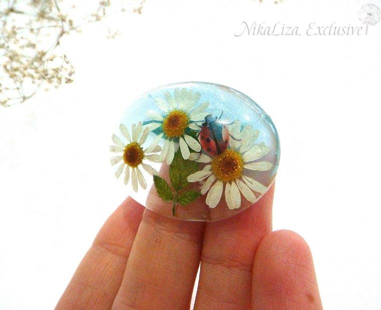 украшения с цветами, четырехлистный клевер
