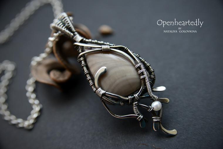 украшения из проволоки, wire wrap
