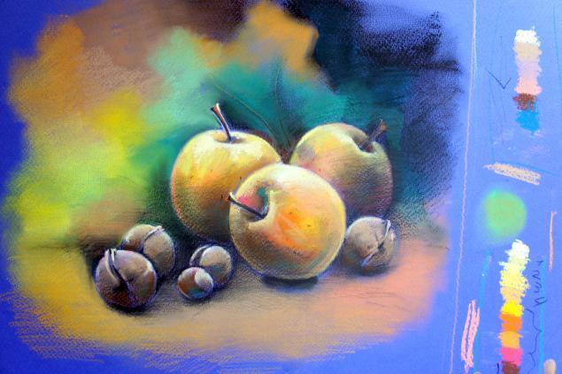 мастер-класс, рисование пастелью, мк по пастели, он-лайн мк, пастель, как рисовать пастелью