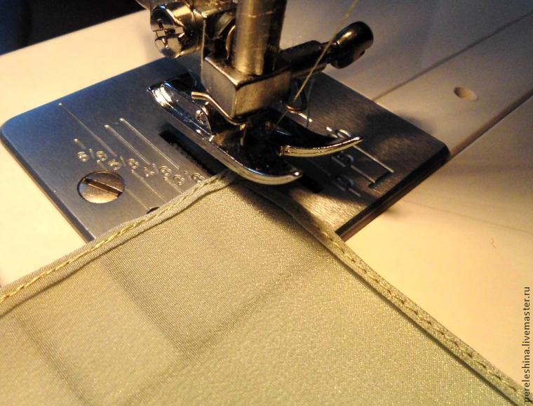 как подшить платок батик