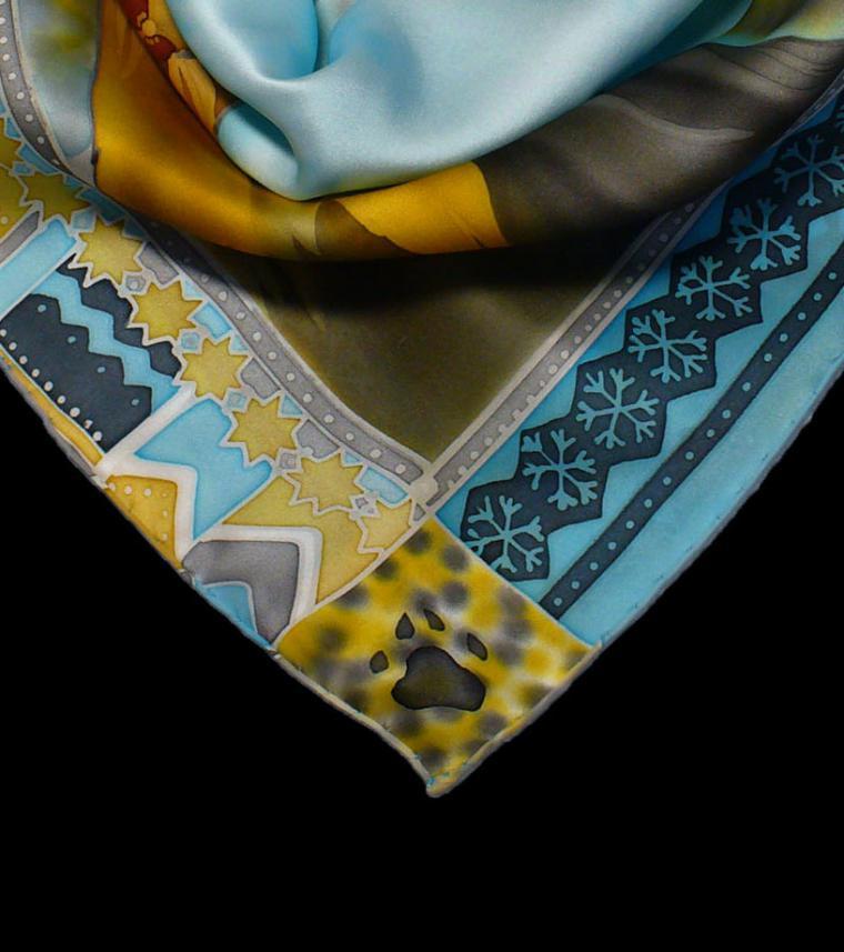 платок батик, аксессуар