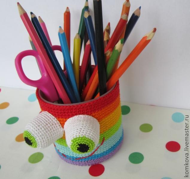 Прикольная карандашница