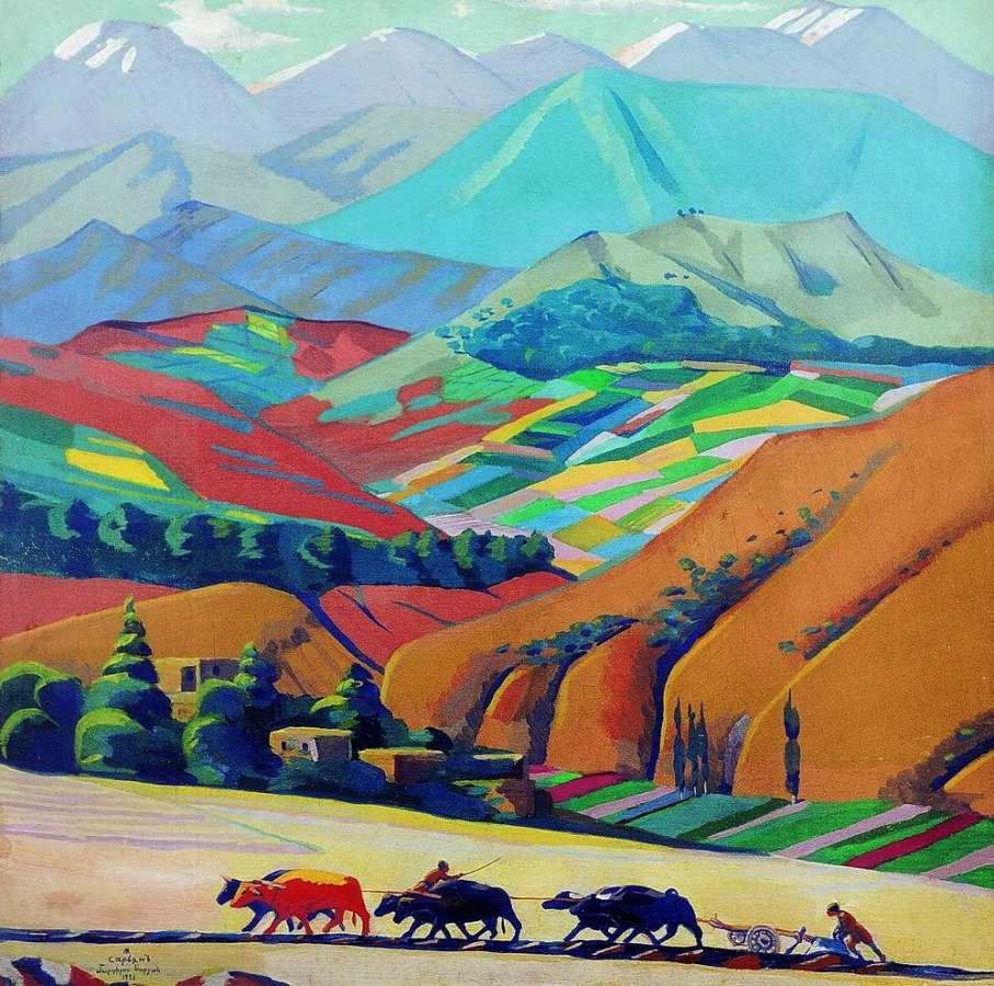 1923 Горы. Х., м. 68х68 ГТГ - Сарьян Мартирос Сергеевич