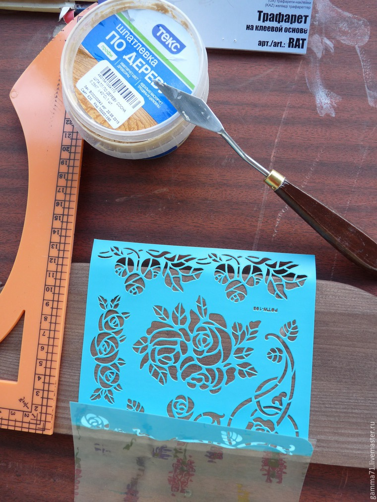 Decorating a Wooden Shelf with a Stencil, фото № 1