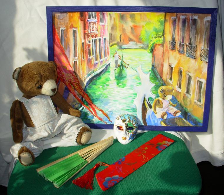 новая коллекция, новая картина, венеция, медвежонок, картина в детскую, картина для интерьера