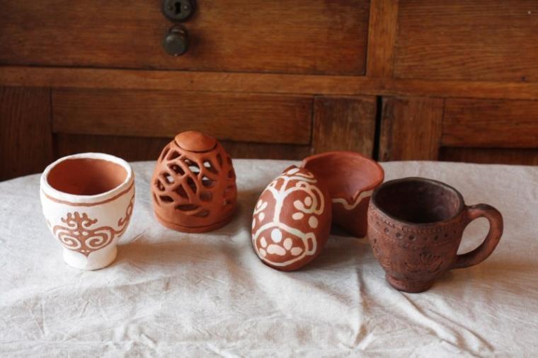 лепка, глиняная посуда