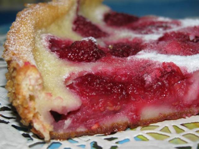 дача, вишневый пирог, ягодный