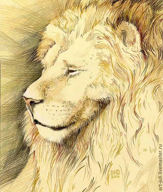 лев - величественный зверь (новые рисунки), фото № 1
