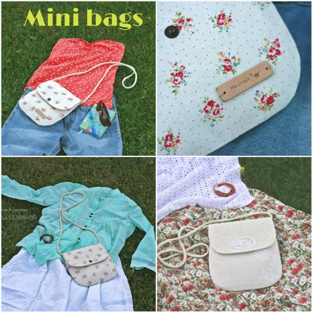 на море, в цветочек, сумки ручной работы, текстильная сумка