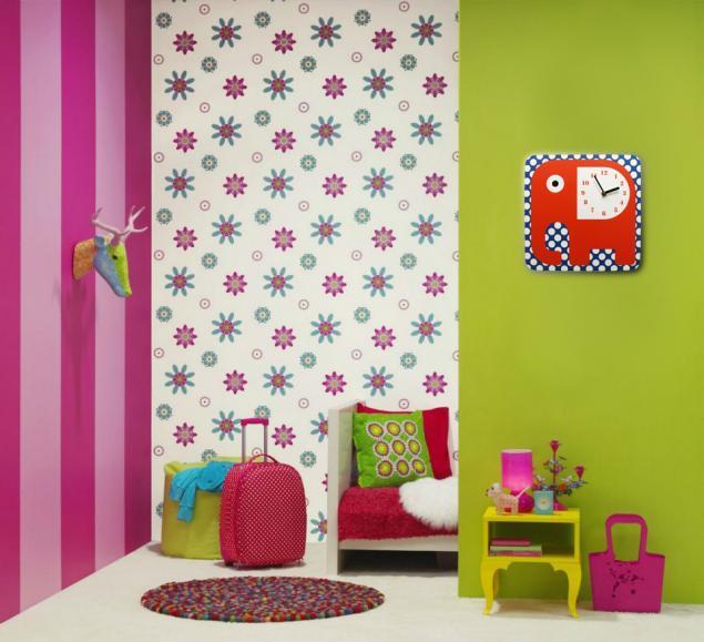 детские часы, настенные часы, часы со слоном, слоник, оранжевый, в горошек, дизайнерские часы, дизайнерские вещи, интерьер детской