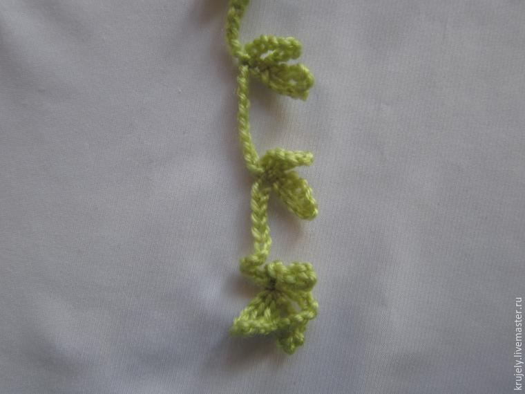 钩针教程:樱花项链(大师班) - maomao - 我随心动