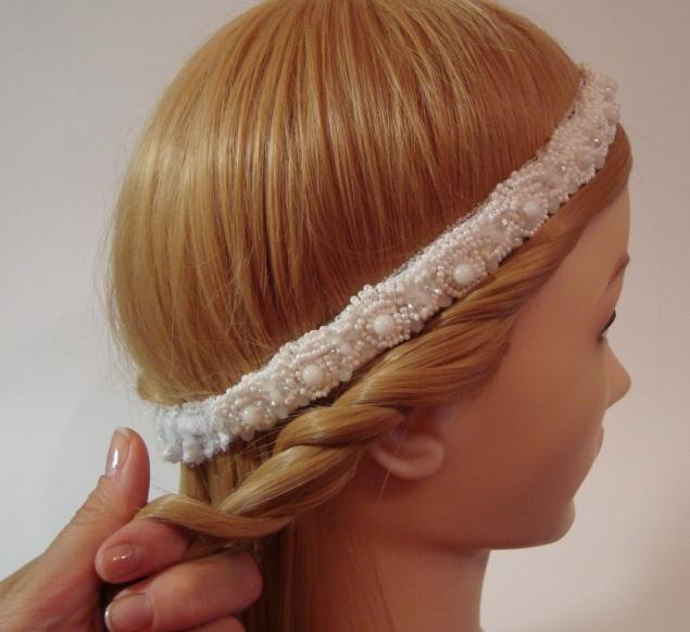 Повязка на волосы мастер класс