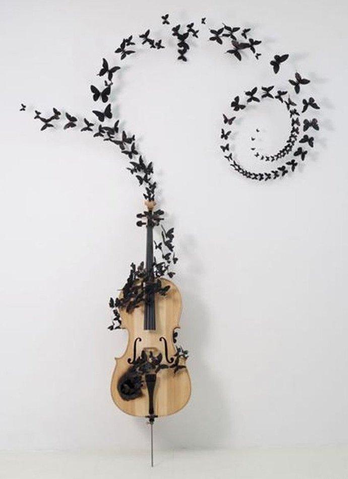 Бабочки как элемент дизайна интерьера, фото № 41