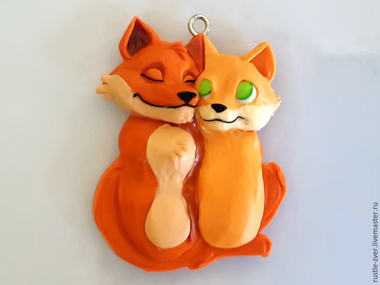 Modeling A Pendant Foxes in Love, фото № 21