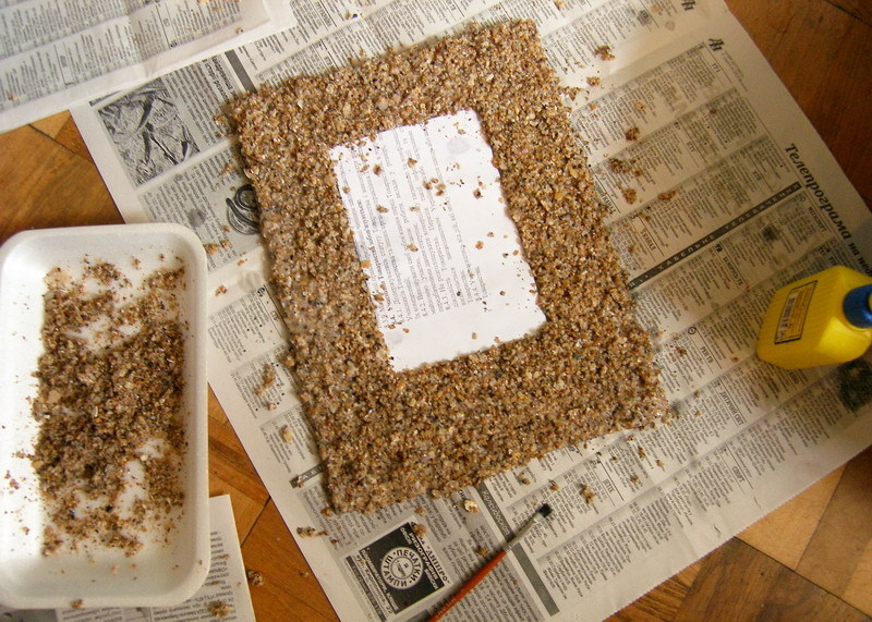 Рамка из песка и ракушек
