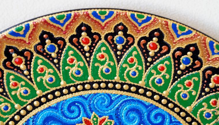 Мастер-класс по точечной росписи: тарелка-панно «танцующий Шива», фото № 22