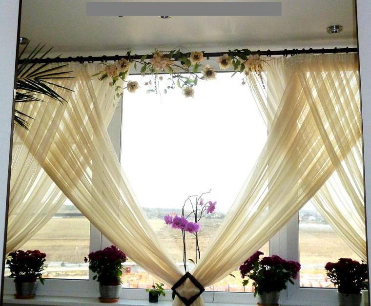 Декор для шторы своими руками
