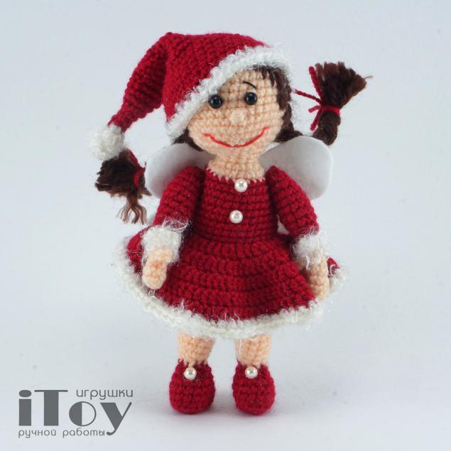 описание вязания, кукла своими руками, рождественская фея
