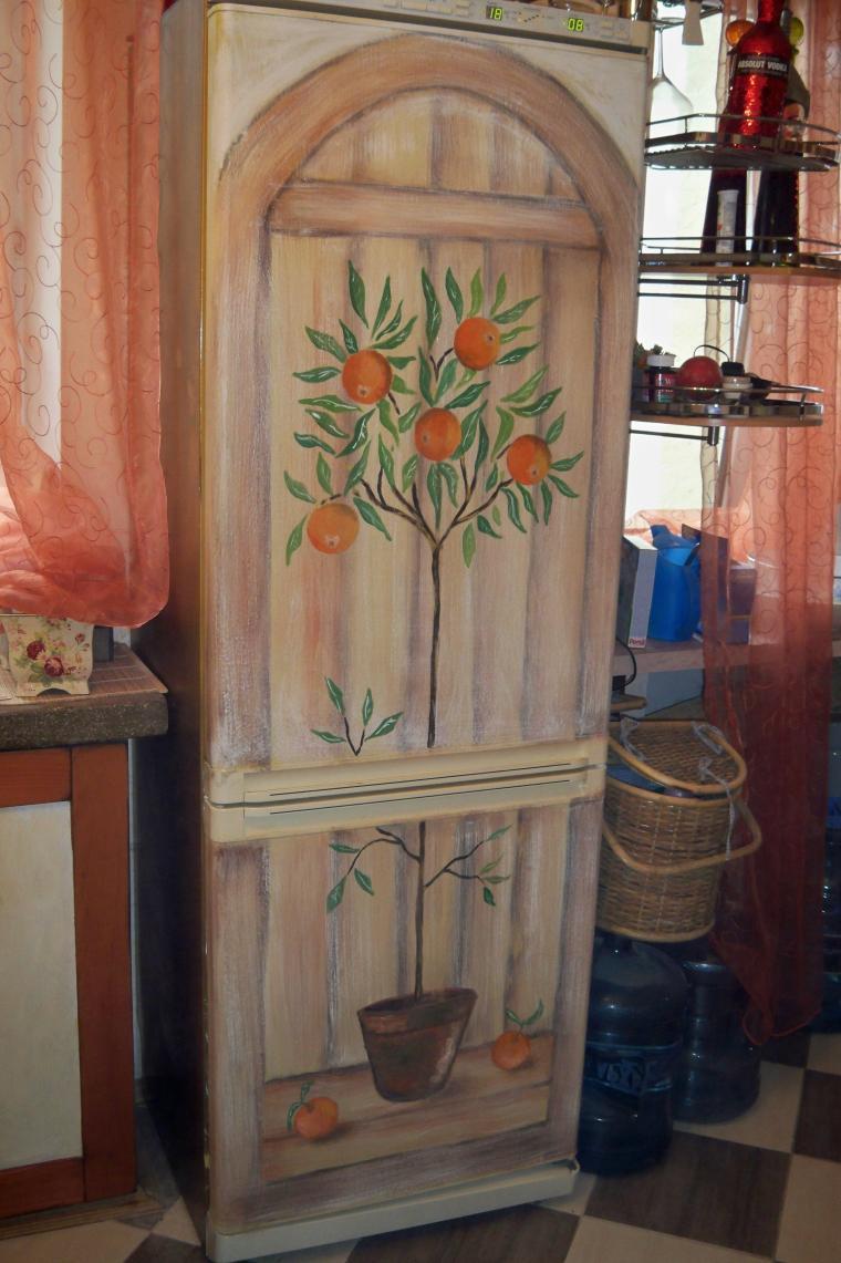 Холодильник в стиле прованс