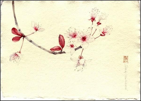 Рисунки акварелью китайский стиль