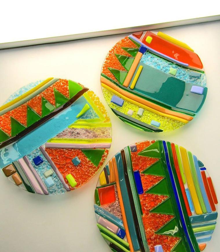 мастерская, тарелки в подарок, счастье, тарекки из стекла, арт, тарелка от дизайнера