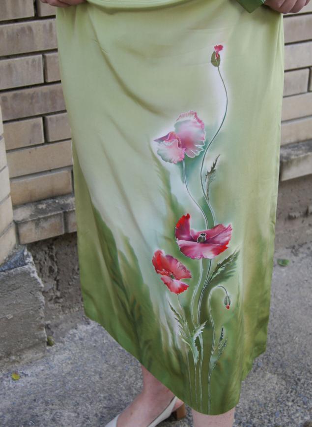 костюм шелковый, платье батик, вышивка