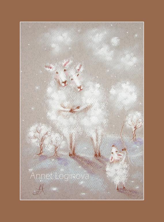 рождественский подарок, зимние картины