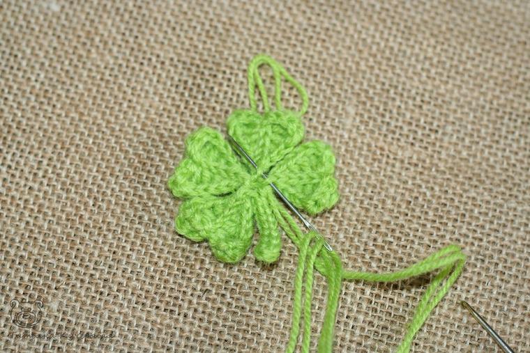 Crochetting a Four Leaf Clover, фото № 13