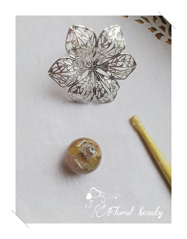 силиконовая форма, цветы в смоле