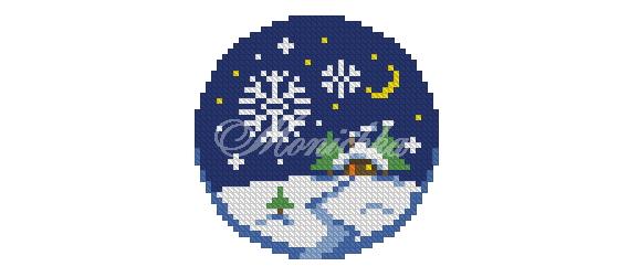 новый год 2015, зима, вышивка, журнал, публикация, снежинка, костер, подставка, подстаканник