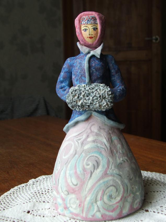 Дымковская игрушка из солёного теста своими руками