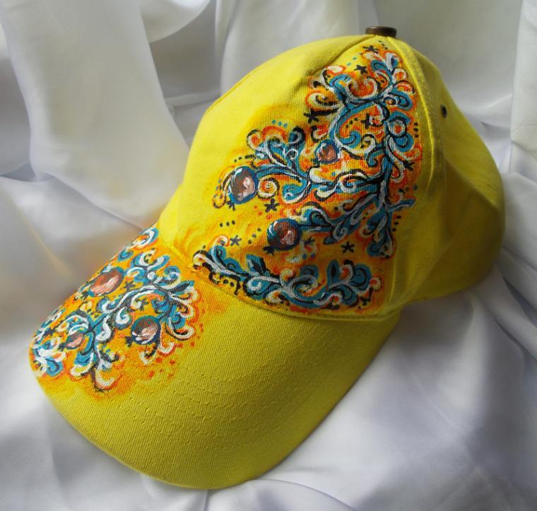 женская кепка, ручная роспись, подарок девушке