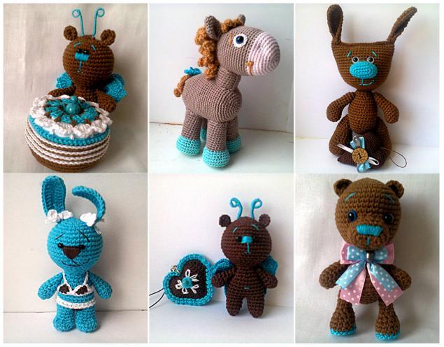 игрушки ручной работы, зайчик, мишка, кукла, детям