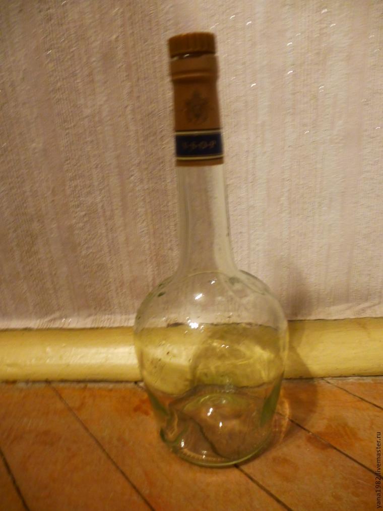 Делаем праздничную бутылочку с двусторонним декупажем, фото № 1