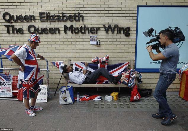 великобритания, малыш, юмор, флаг
