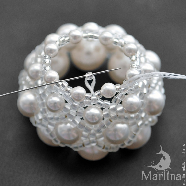 Jellyfish Pendant DIY with Pearls and Swarovski Crystals, фото № 19