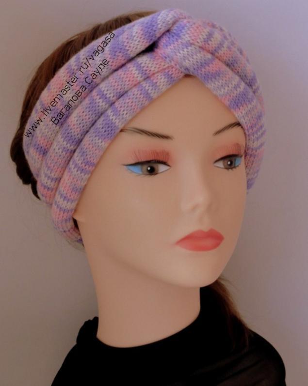 чалма, вязаная повязка, скидка, женские головные уборы