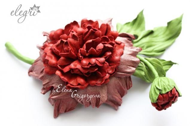 обучение цветы из кожи, купить цветы