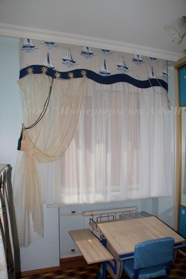 Дизайн штор в морском стиле