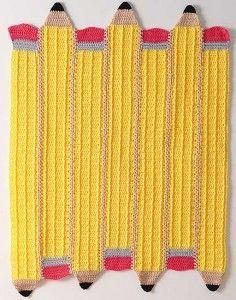 Pencil afghan ~free pattern
