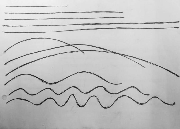 закругленный линии рисование карандашом фото мужчины голубыми