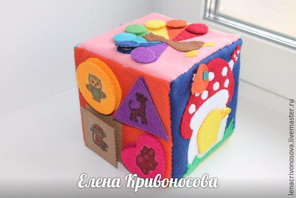 Сделать развивающие кубики своими руками 936