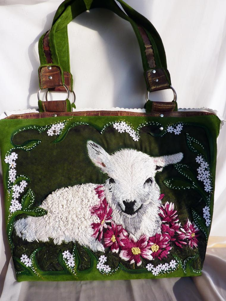 сумка женская, сумка кожаная, сумка с вышивкой