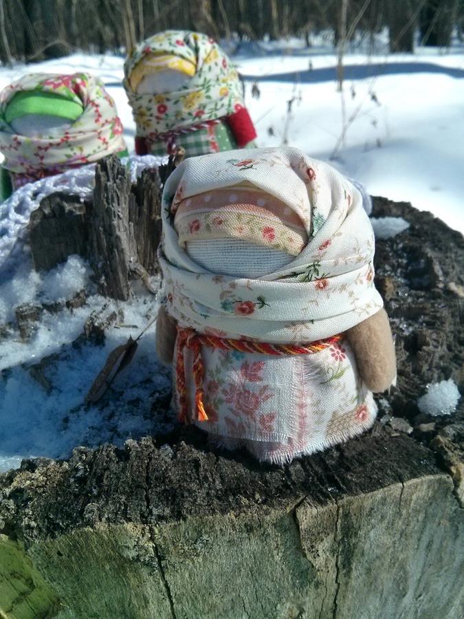 народная кукла, весна