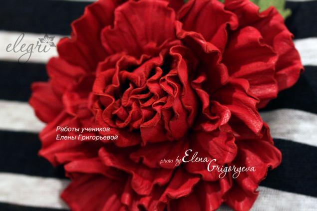 кожаные цветы, технология elegri