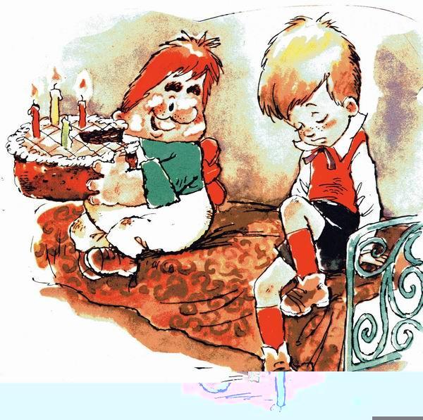Открытка с днем рождения малыш и карлсон