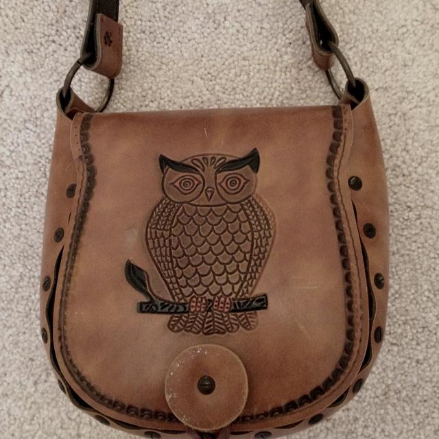 1970's owl purse