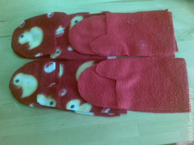 рукавички из флиса