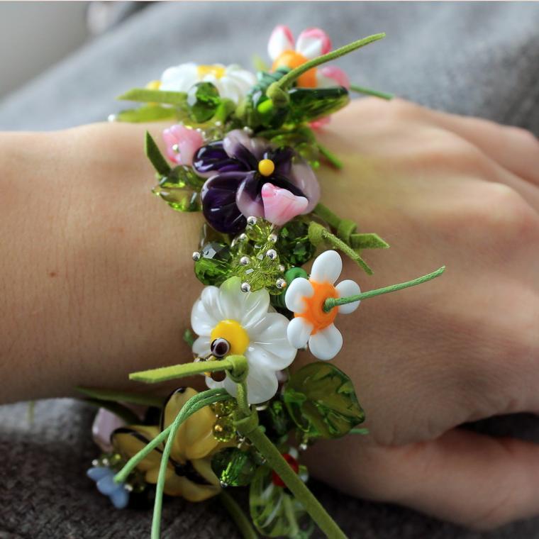 браслет цветочный